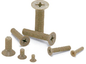 SPE-FPlastic Screw - Cross Recessed Flat Head Machine Screws - PEEK