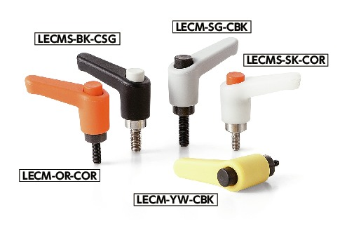 LECM-CClamp Lever - Miniature Type, Male Screw - with Push Button