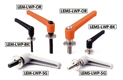 LEM-LWPPlastic Clamp Levers with Flat Washers for Slotted Holes
