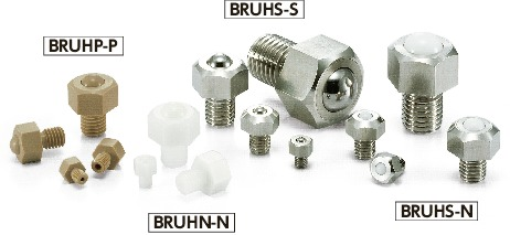 BRUHN-NBall Rollers - Hex Head Screw Type
