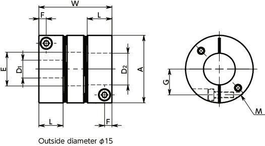 XHW-25C-L-4-9 525_Flexible Couplings - Disk Type|NBK | The Motion
