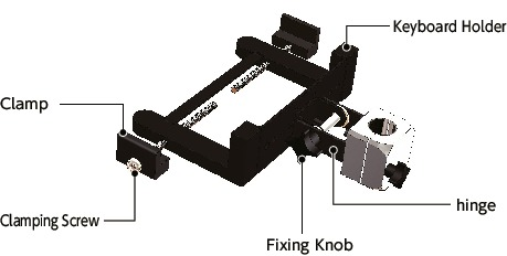DKBR-PBKeyboard Mounting System - Single Axis Type