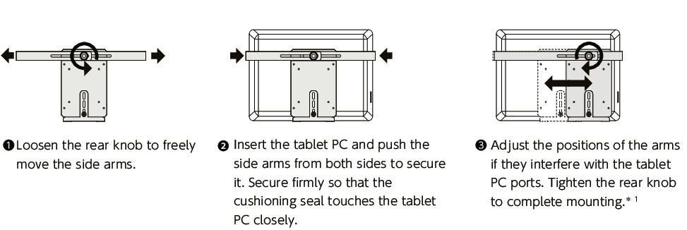 DTAC-ABTablet PC Holders - Quick Positioning Type - For Aluminum Frames