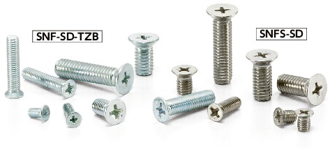 SNF-SD-TZBCross Recessed Flat Head Machine Screws with Small Head