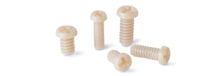 SPE-MCPlastic screw - Cross Recessed Pan Head Machine Screws for Precision Instruments - PEEK