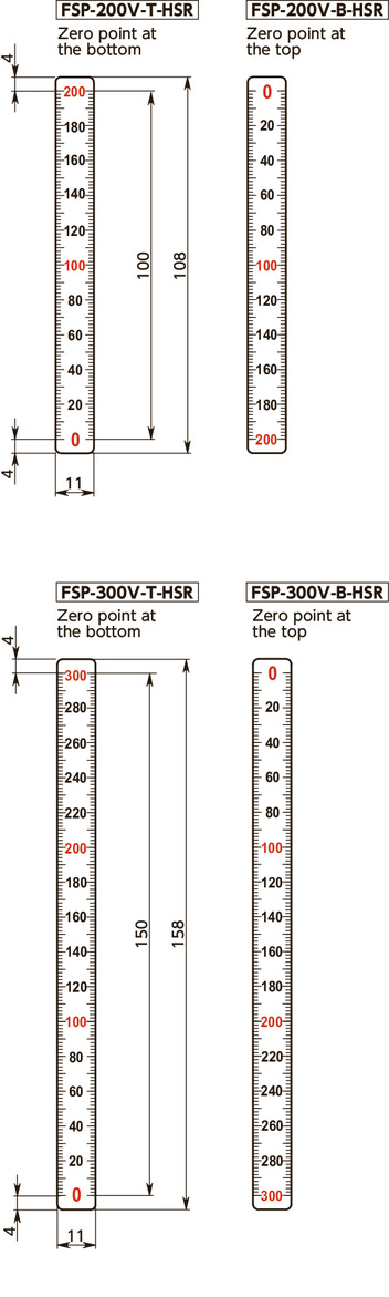 FSP-V-HSRScale Plate (Vertical Type) - Half scale寸法図
