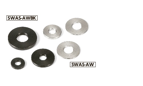 SWAS-AWBKAdjust Metal Washer - Stainless Steel Black