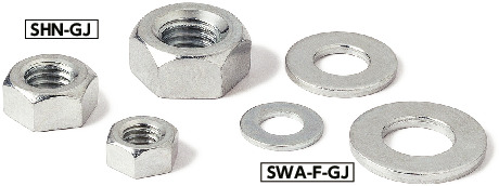 SHN-GJHex Nuts (Galvanic Corrosion Prevention Treatment)