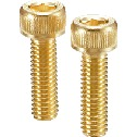 Hex Socket Head Cap Screws - Gold Coating
