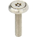 Flat Head Screw with Hexalobular Socket (with Pin) Rosette Washer Set