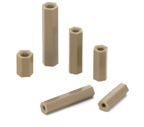 SPE-HBPlastic Screws - Hex Posts - PEEK