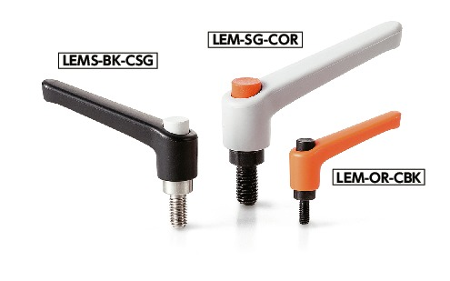 LEM-CPlastic Clamp Lever, Male Screw - with Push Button