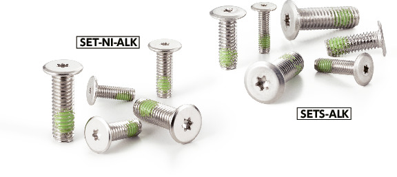 SETS-ALKHexalobular Socket Head Cap Screws with Extreme Low Profile (Nylon Patch)
