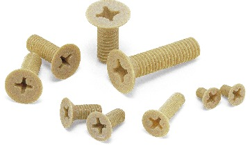 SPS-FPlastic Screw PPS / Phillips Cross Recessed Flat Head Machine Screws