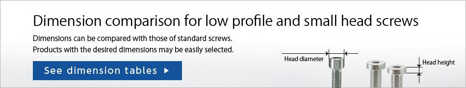 Low Profile Screws・Small Head Screws | NBK | Couplings, Screws